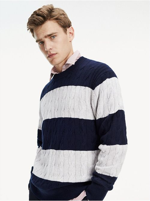 Sweater-color-block-con-cinta-Tommy-Tommy-Hilfiger
