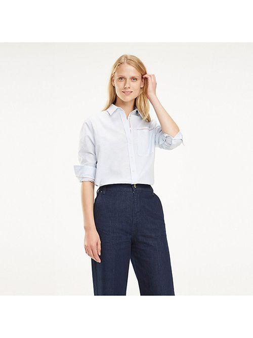 Camisa-de-lino-y-algodon-con-cinta-distintiva-Tommy-Hilfiger