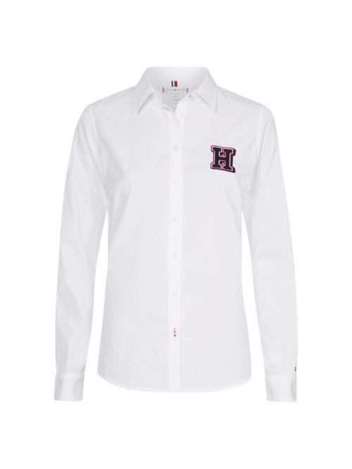 Camisa-de-algodon-organico-con-logo-Tommy-Hilfiger