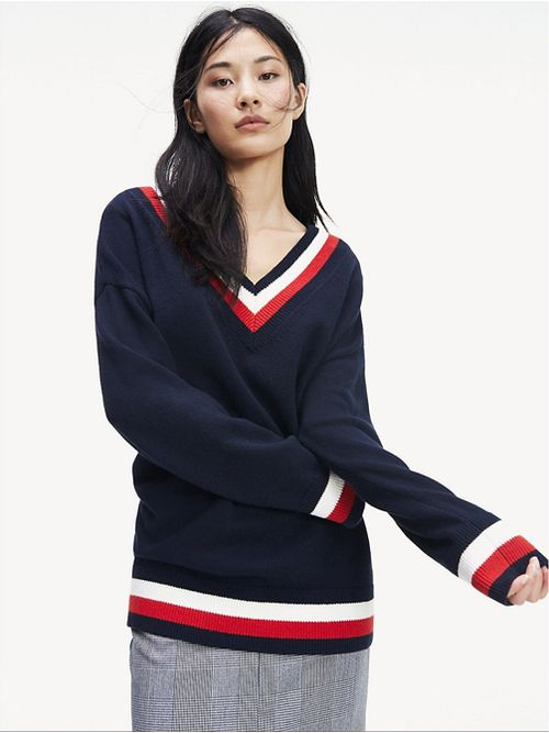 Sweater-Essential-color-block-con-cuello-de-pico-Tommy-Hilfiger