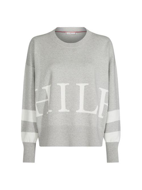 Sweater-de-rayas-en-algodon-organico-con-logo-Tommy-Hilfiger
