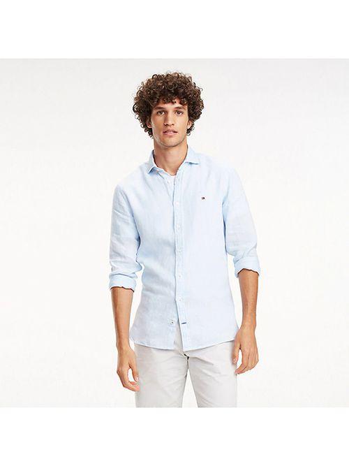 Camisa-de-lino-y-corte-slim-Tommy-Hilfiger