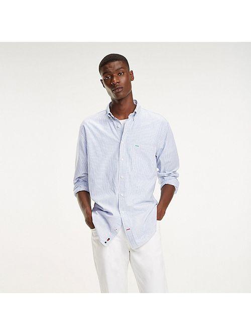 Camisa-oversize-de-rayas-con-cuello-de-botones-Tommy-Hilfiger