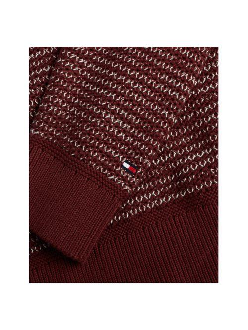 Sweater-de-punto-nido-de-abeja-moteado-Tommy-Hilfiger