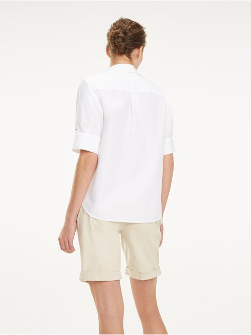 Camisa-clasica-Oxford-de-manga-corta-Tommy-Hilfiger