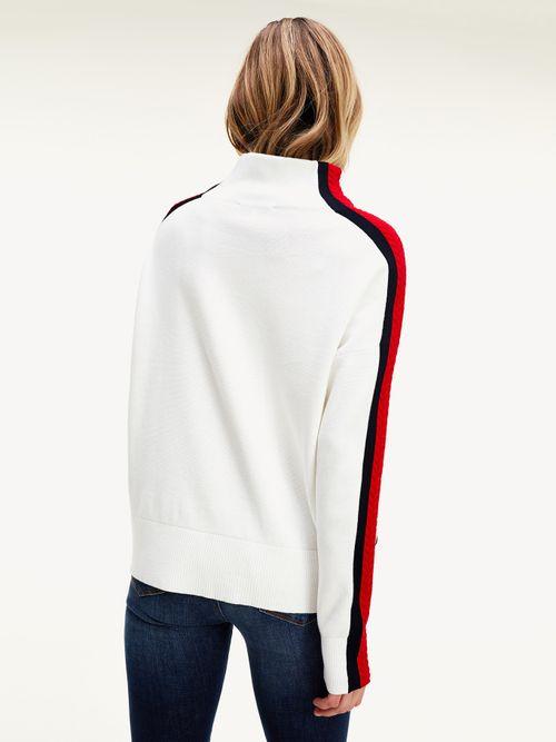 Jersey-de-cuello-perkins-con-cinta-distintiva