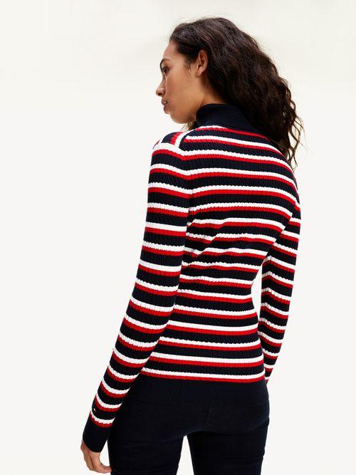 Jersey-Essential-de-punto-trenzado-con-corte-slim