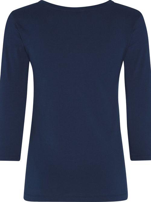 Camiseta-de-algodon-de-cuello-redondo-y-logo-dorado